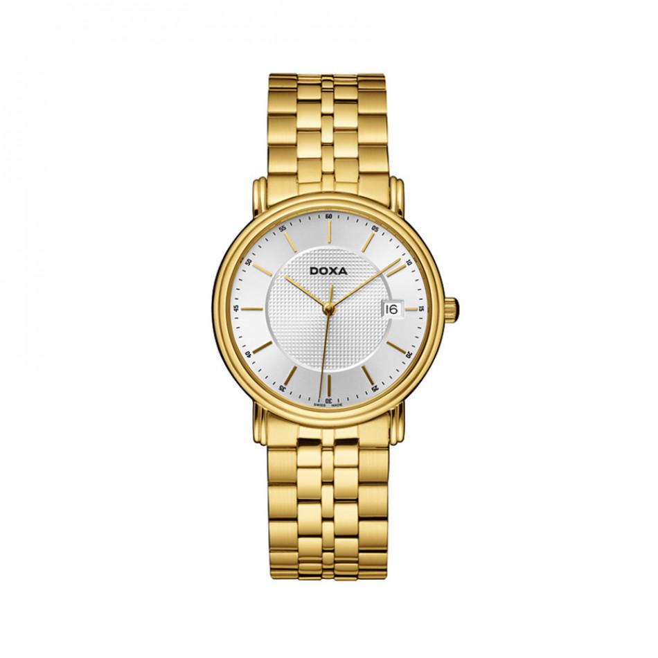 Мъжки часовник DOXA Royal златист с бял циферблат 2213002111