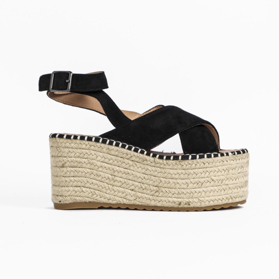 Дамски сандали на платформа в черно it270320-4