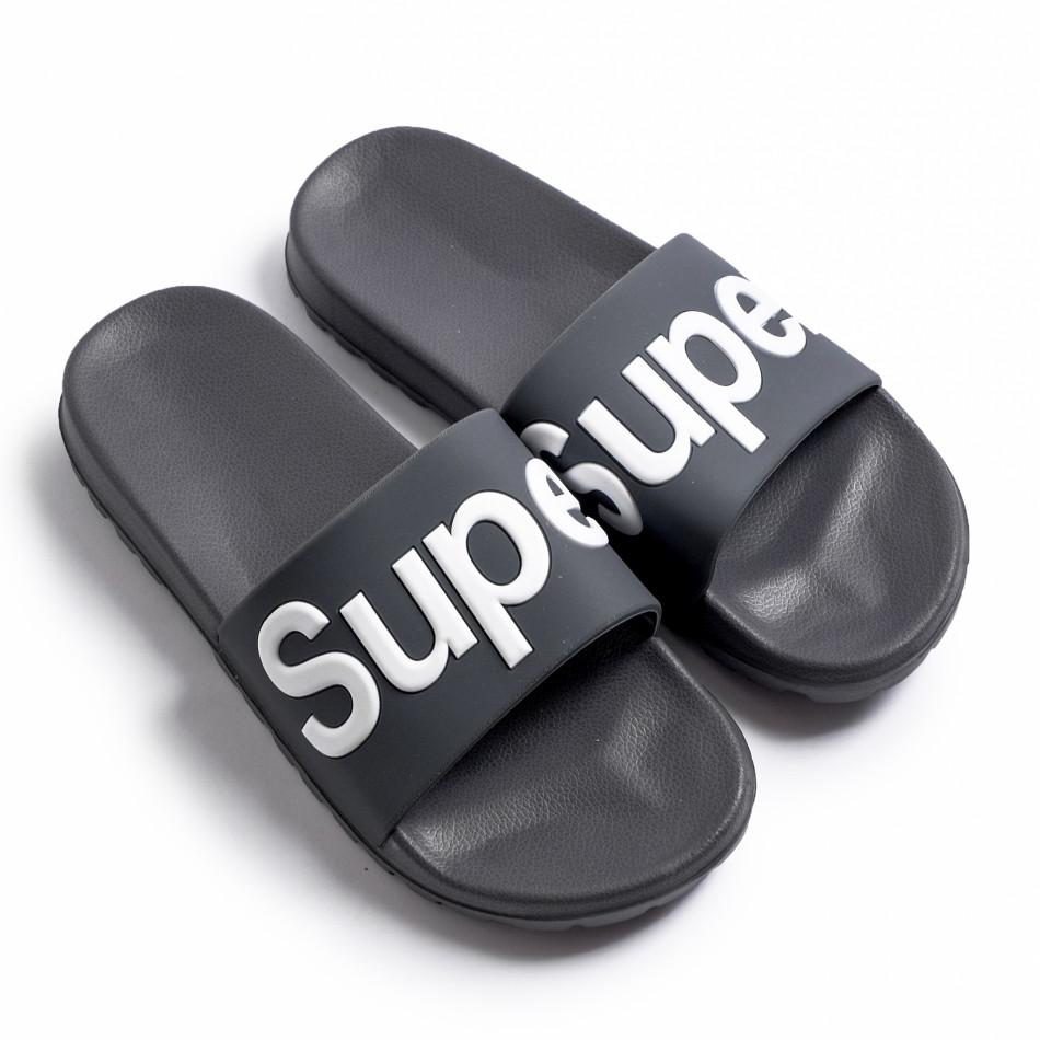 Мъжки джапанки Super в сиво it260620-2