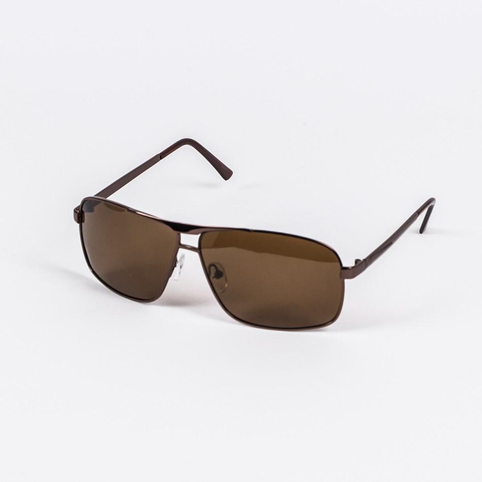 Кафяви слънчеви очила метална рамка il200720-13