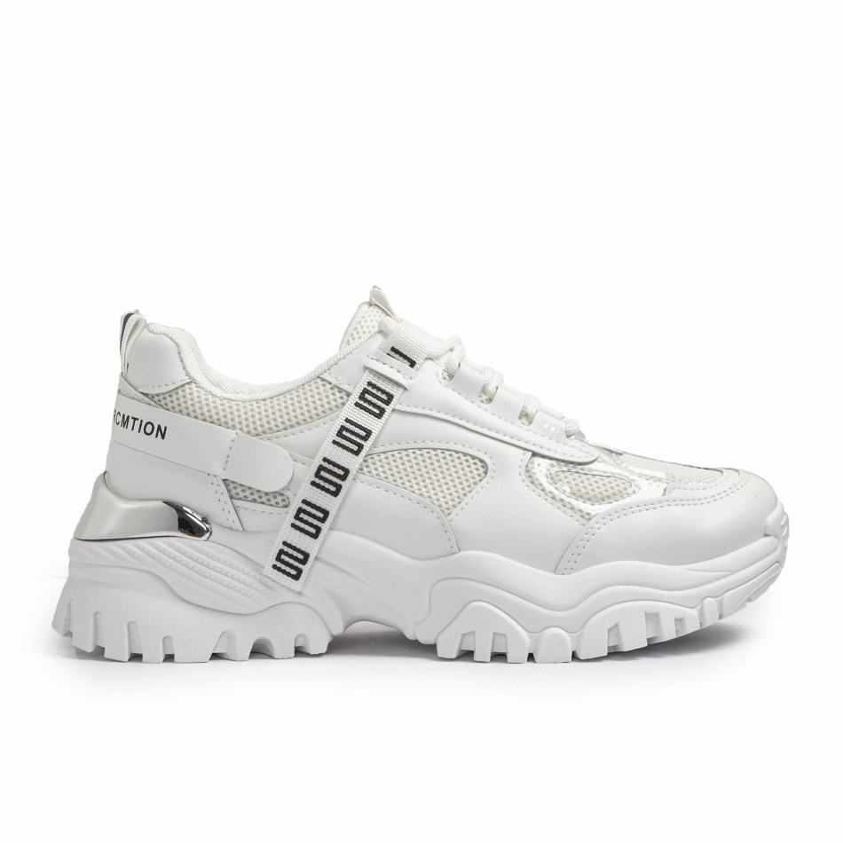 Chunky бели маратонки с декорация it110221-11