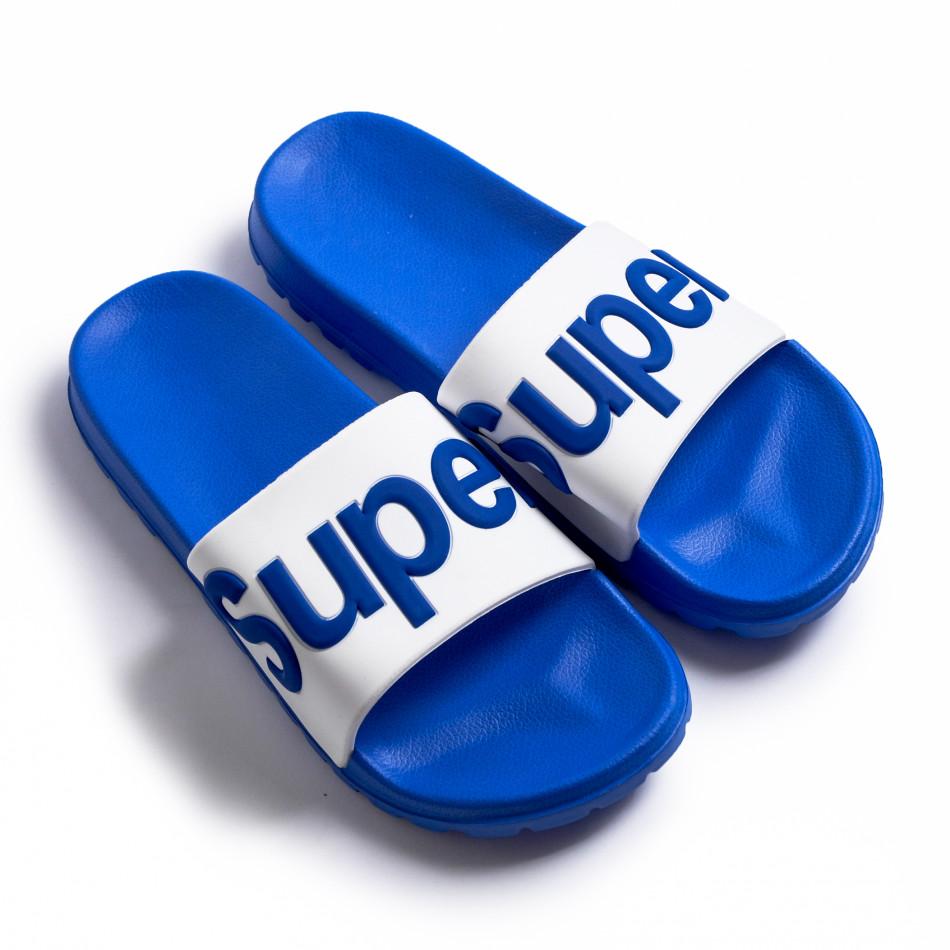 Мъжки джапанки Super в синьо it260620-1