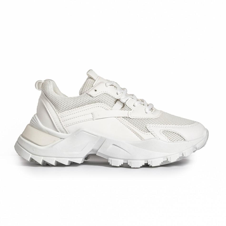 Chunky дамски бели маратонки it280820-7