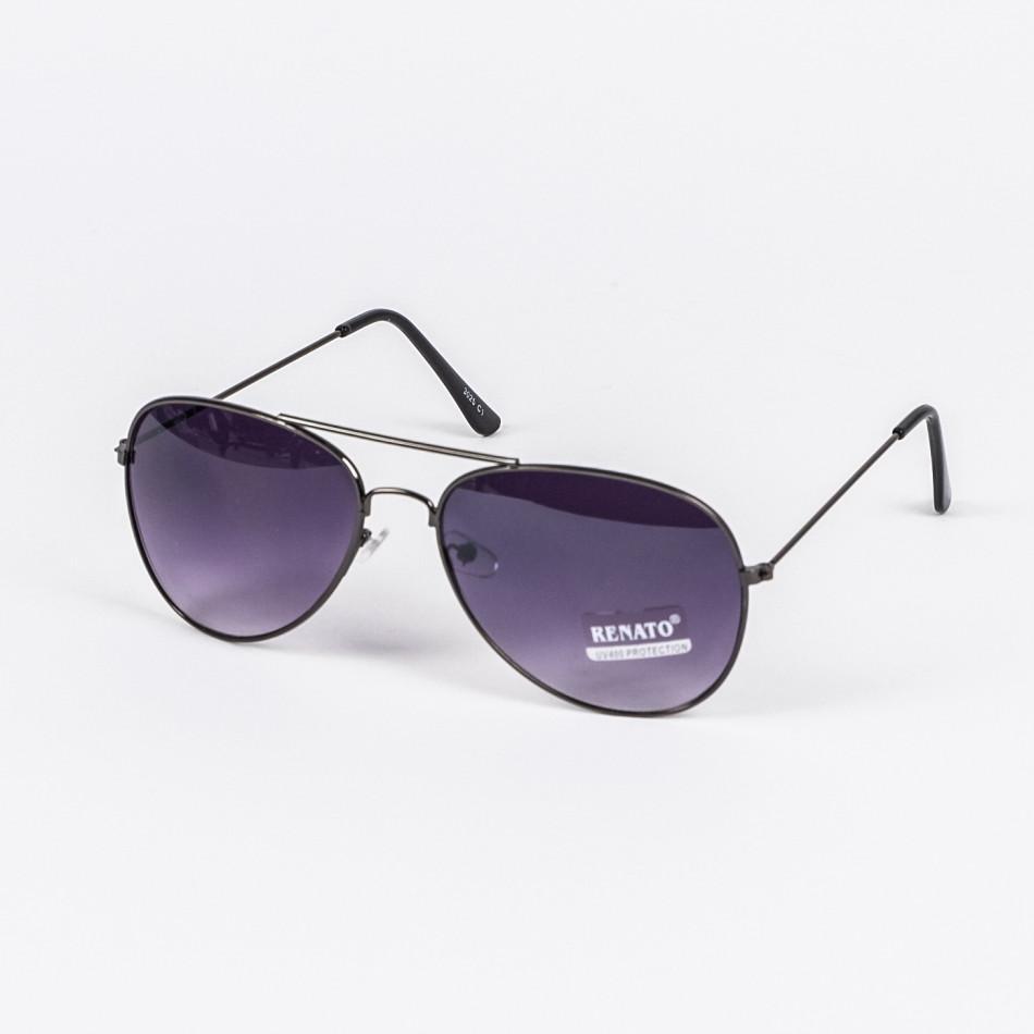 Пилотски слънчеви очила черни опушени il210720-2