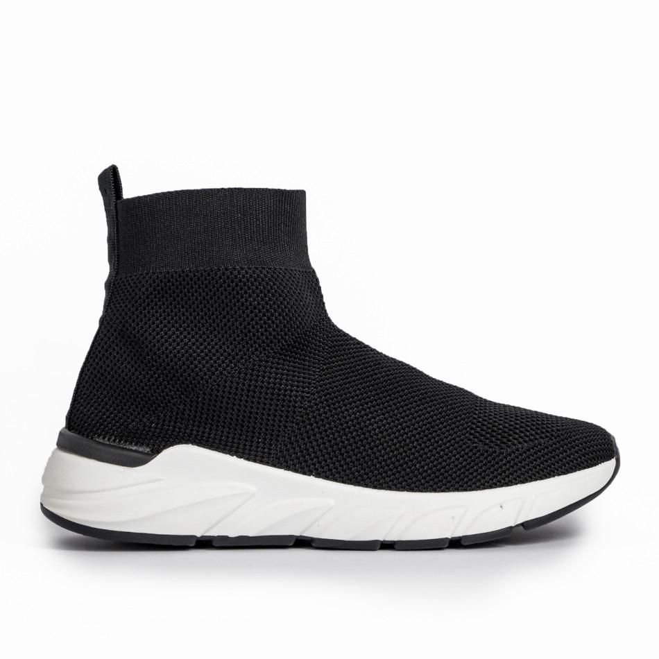 Черни дамски маратонки тип чорап it250119-59