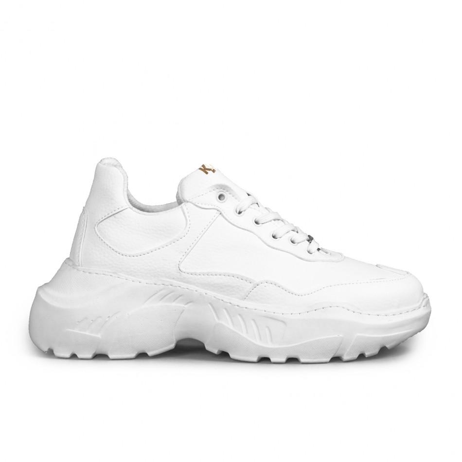 Мъжки бели маратонки Chunky All white tr051021-7