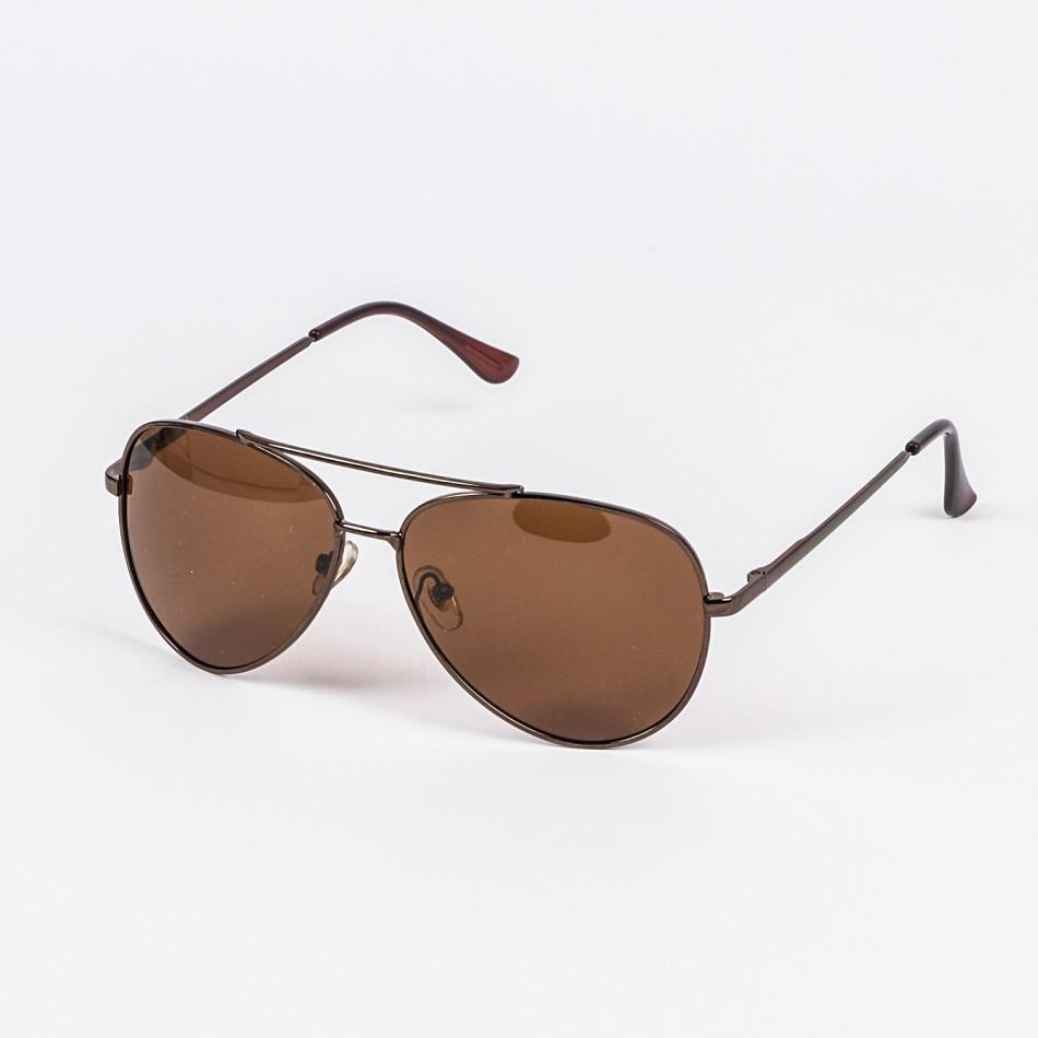 Basic пилотски слънчеви очила в кафяво il200720-8