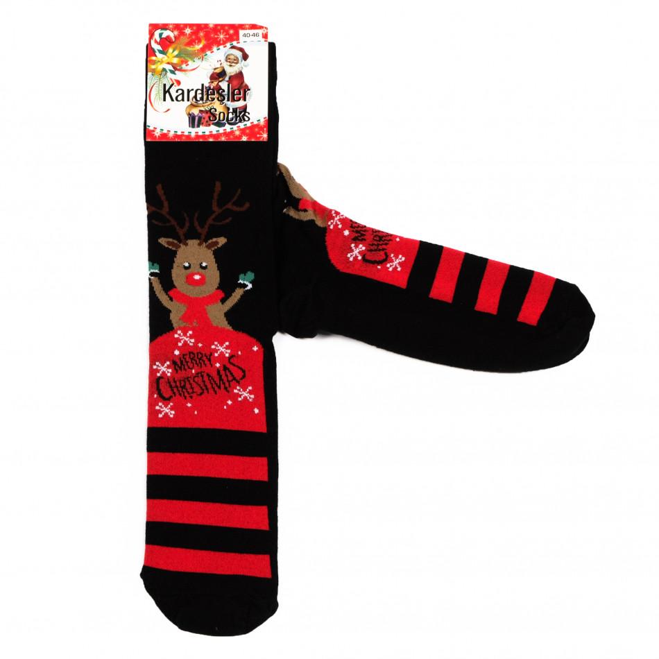Мъжки черни коледни чорапи il161220-40