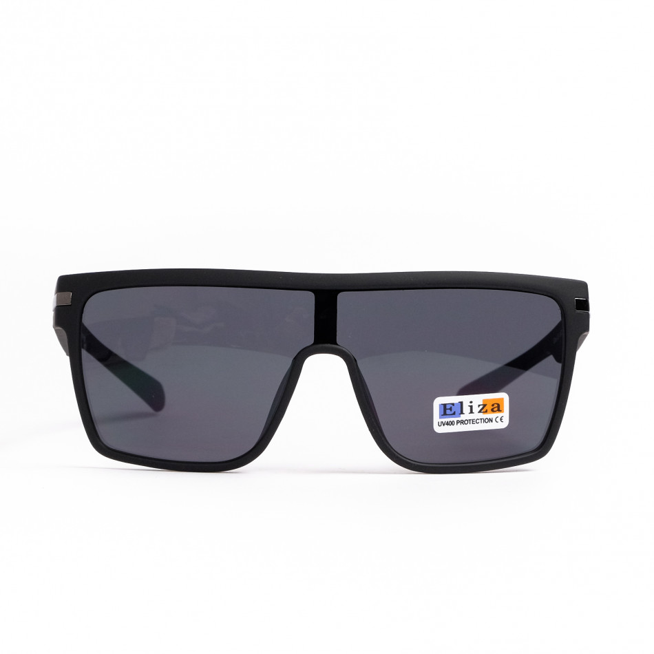 Трапецовидни черни очила тип маска il200521-14