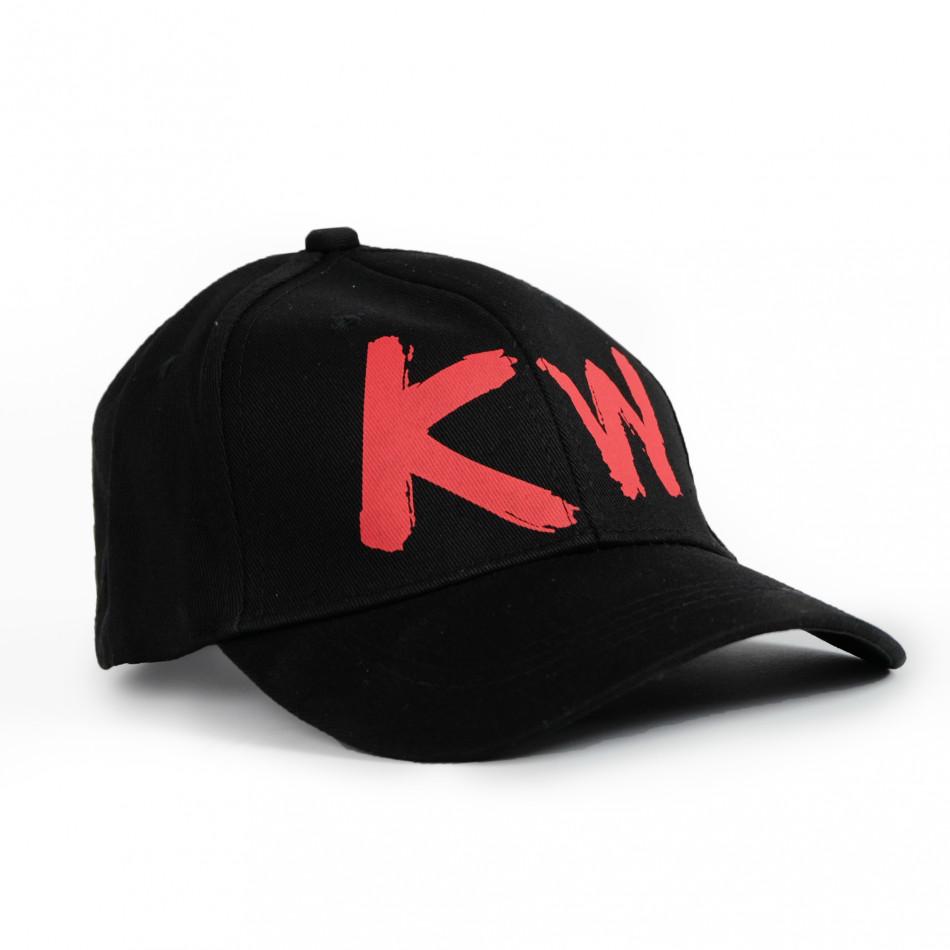 Плитка черна шапка с козирка gr090321-9