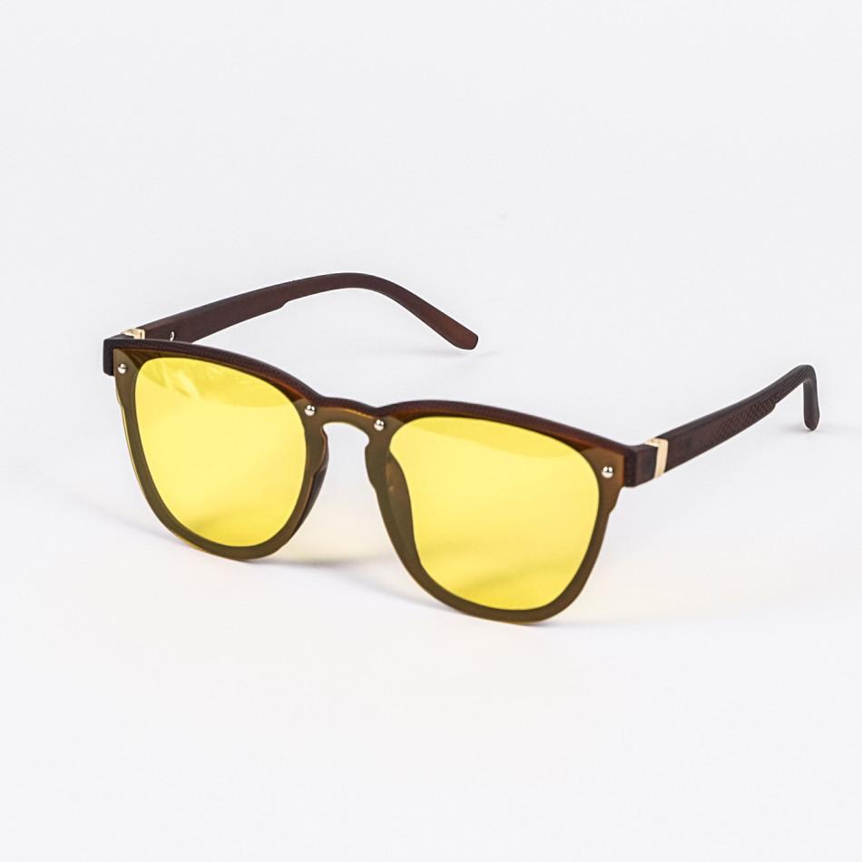 Плоски жълти слънчеви очила пеперуда Polar Drive il200720-17