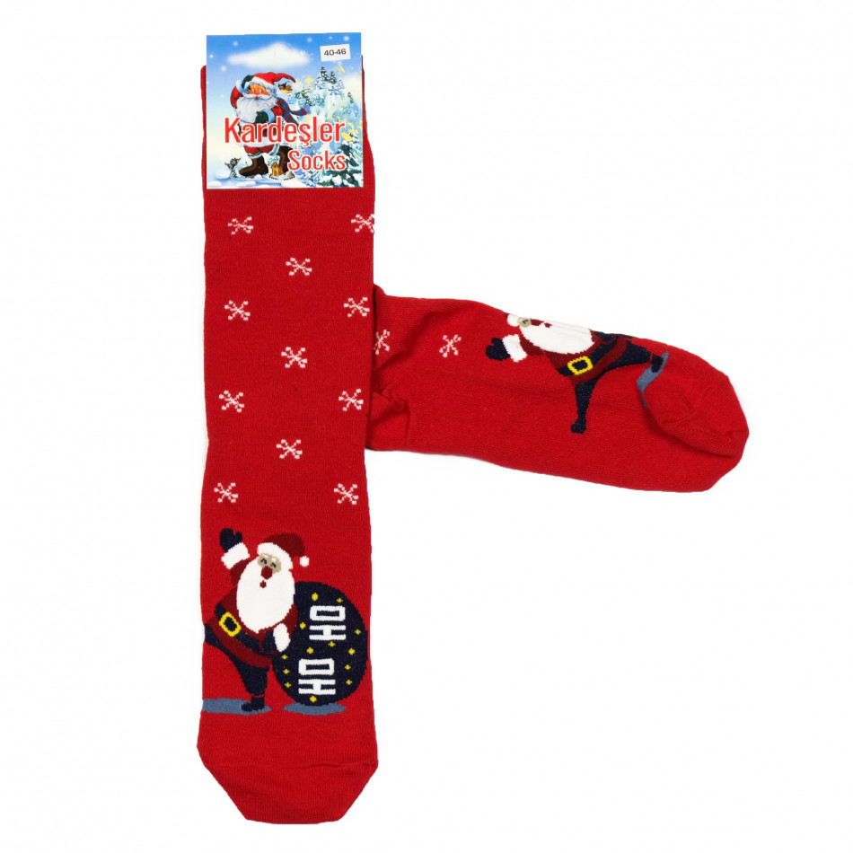 Мъжки червени коледни чорапи il161220-35
