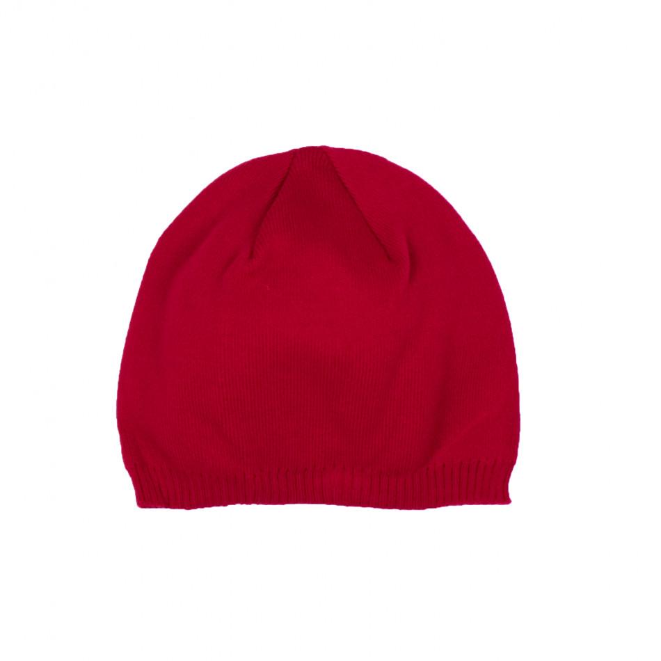 Basic мъжка плетена шапка в червено il161220-3