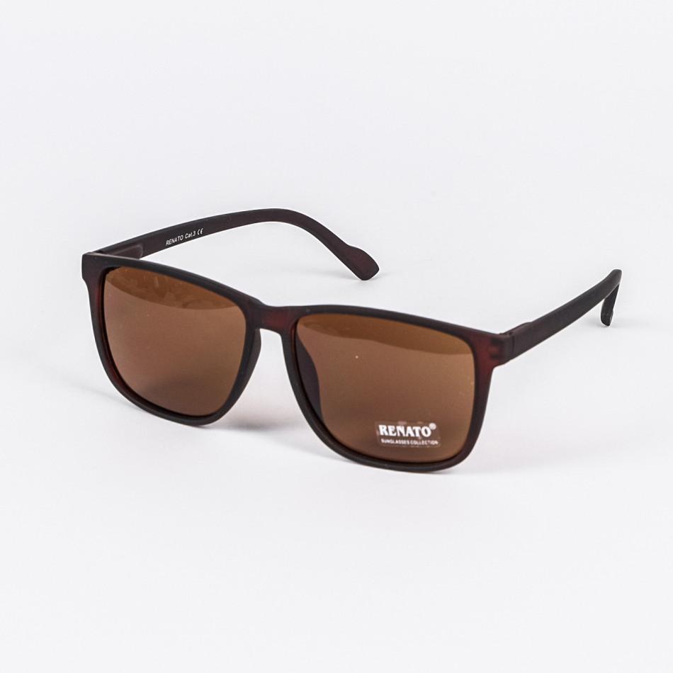 Квадратни кафяви слънчеви очила мат il210720-4