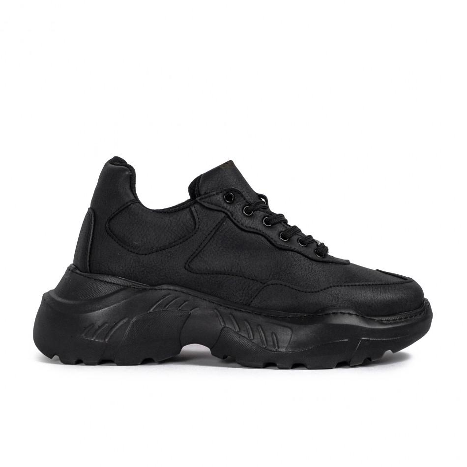 Мъжки черни маратонки Chunky All black tr051021-6