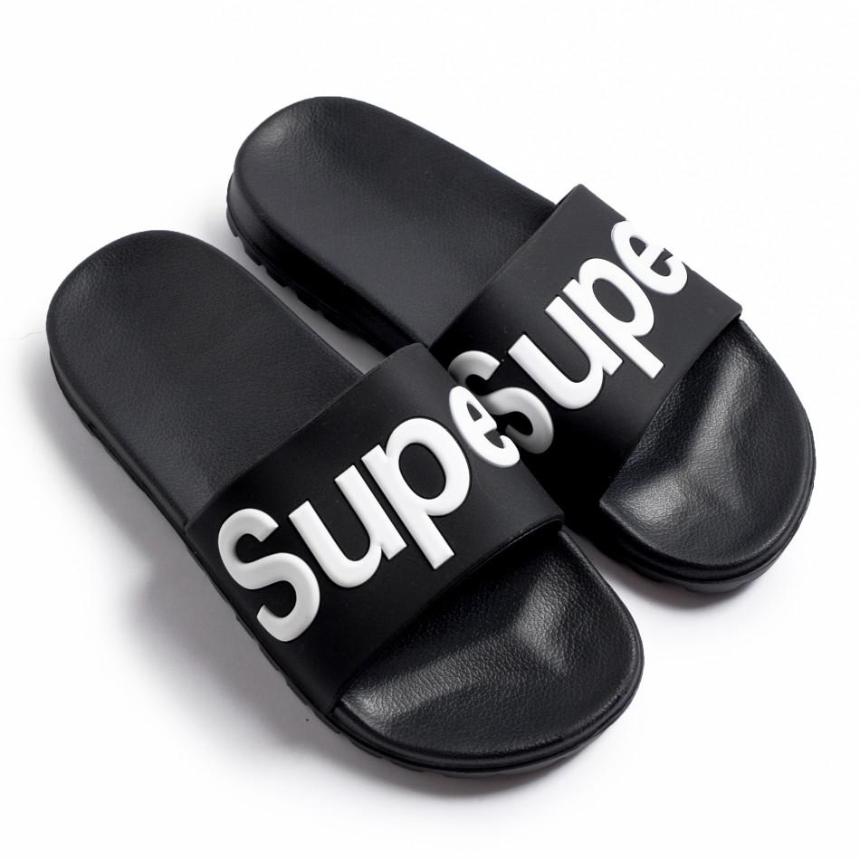 Мъжки джапанки Super в черно it260620-3