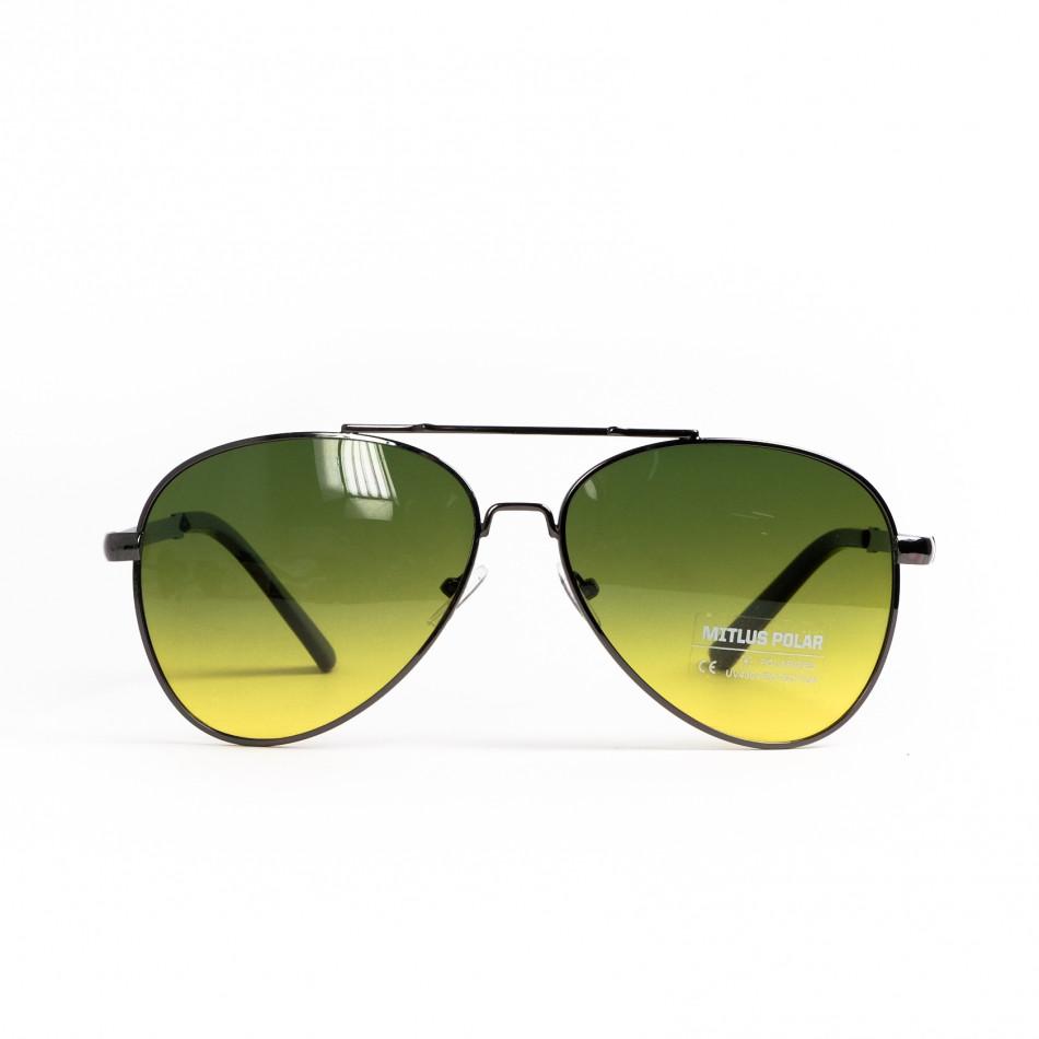 Пилотски очила опушени в жълто-зелено il200521-22