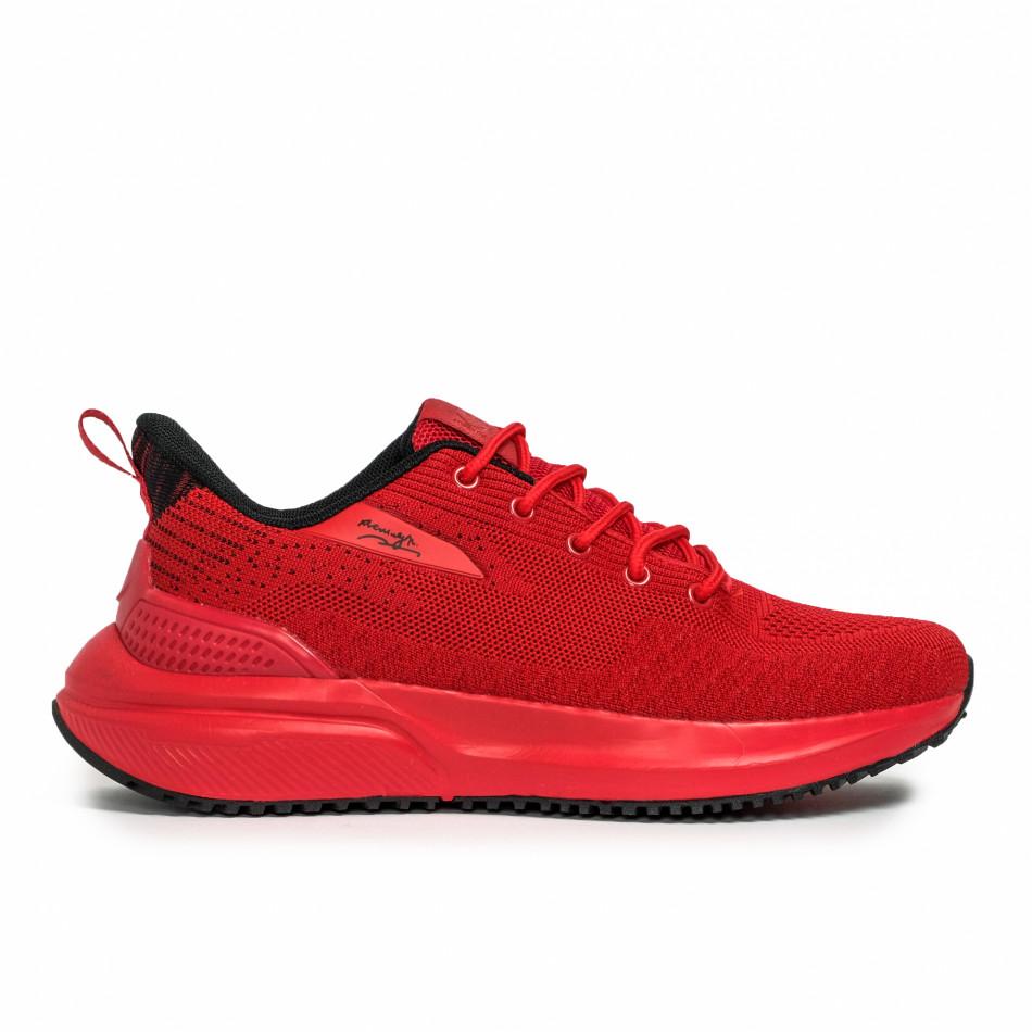 Текстурирани мъжки маратонки в червено it090321-5
