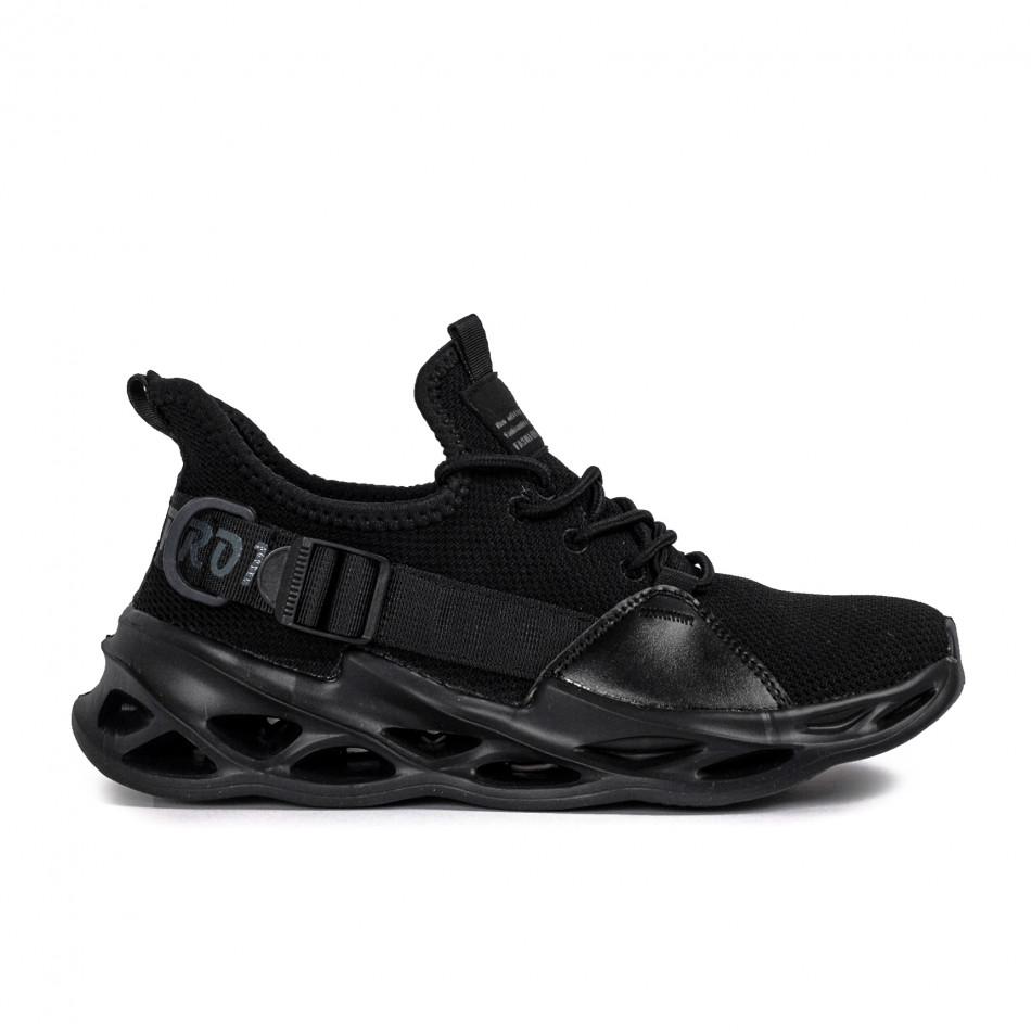 Мъжки маратонки Chevron All black it051021-4