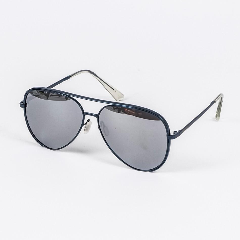 Огледални слънчеви очила синя метална рамка il210720-9