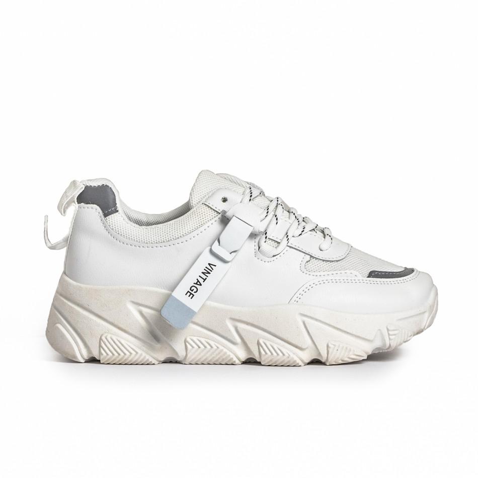Дамски бели маратонки Vintage. Размер 36 it280820-14-1