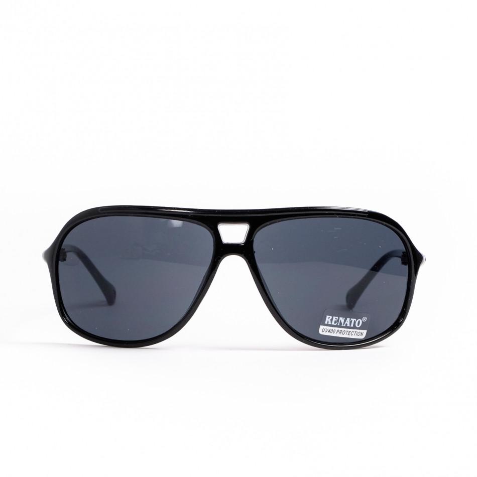 Черни слънчеви очила с детайл il200521-10