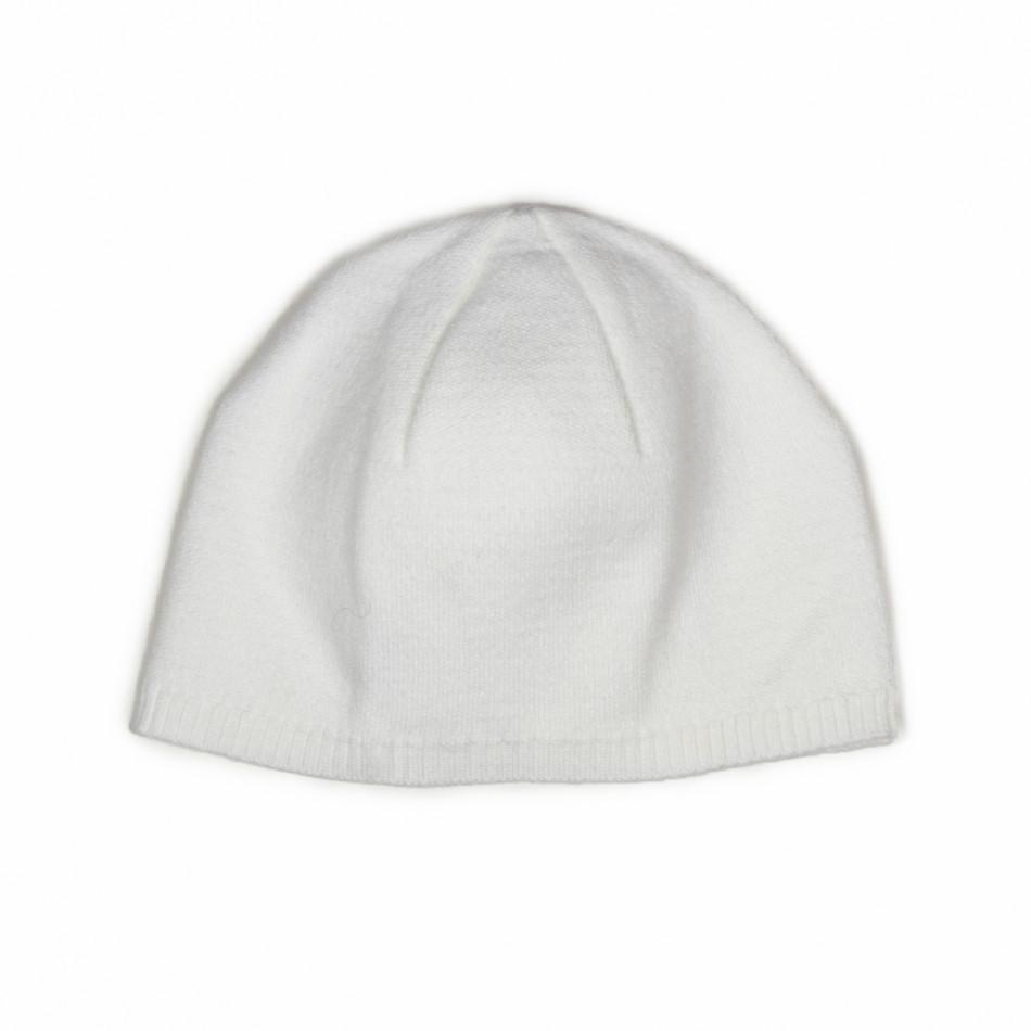 Basic мъжка плетена шапка в бяло il161220-2