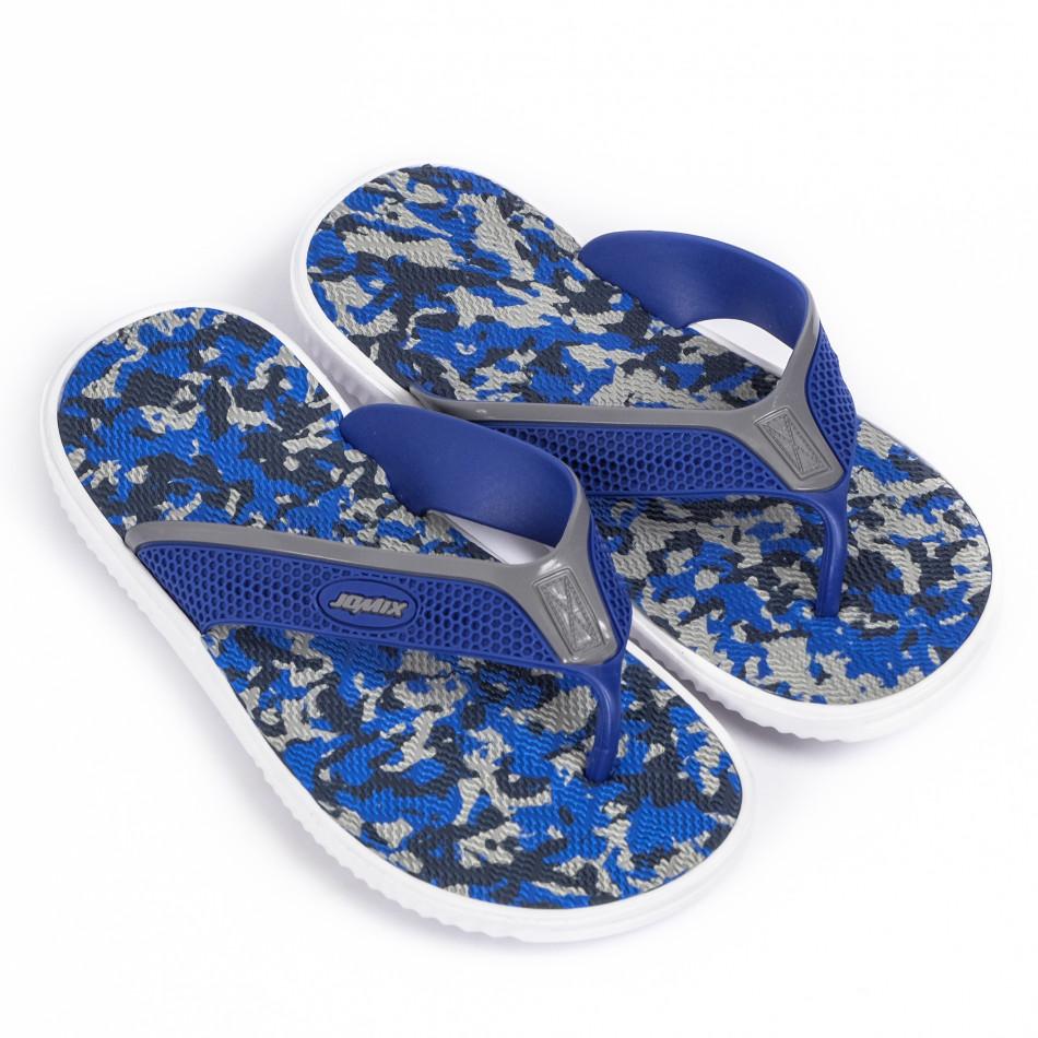 Мъжки джапанки син камуфлаж it120620-1