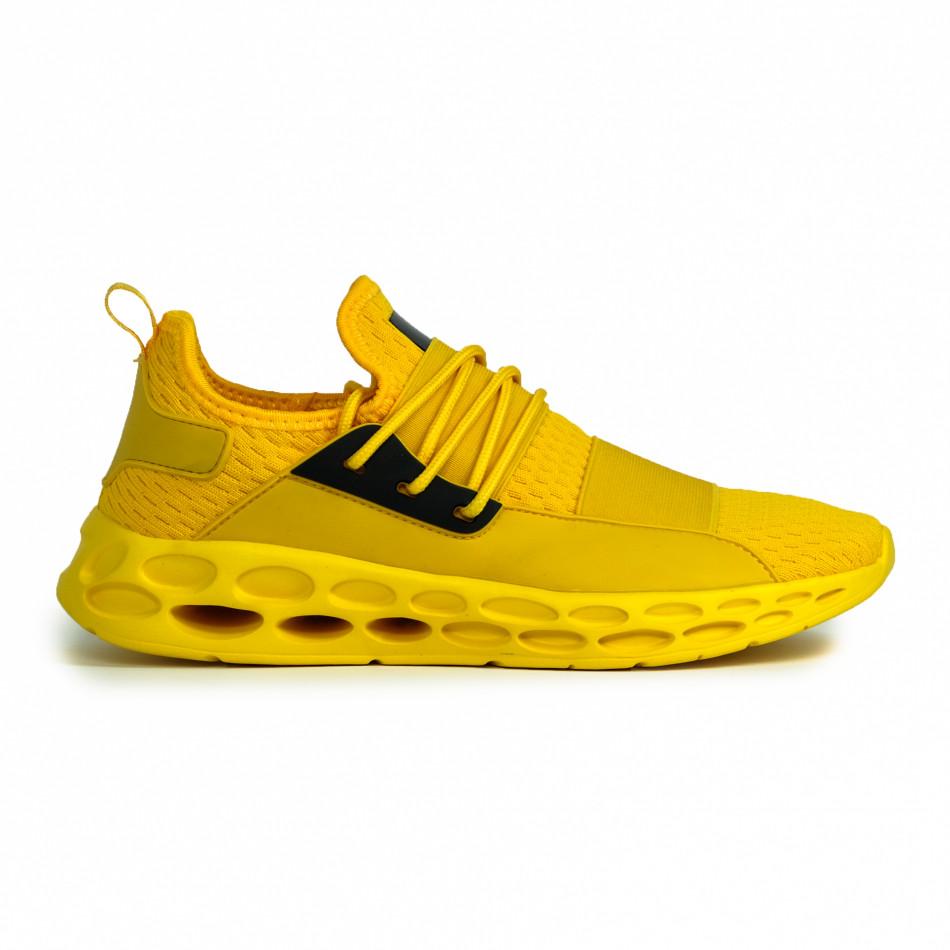 Мъжки жълти маратонки с ластици it180820-8