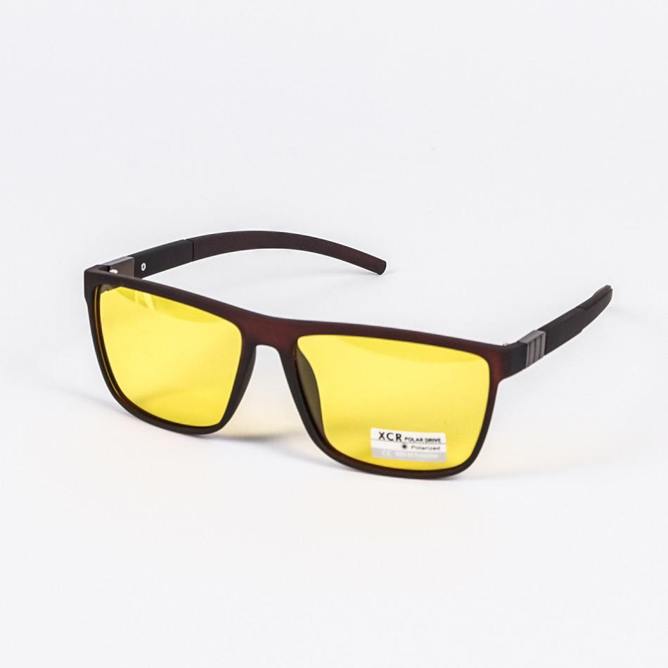 Трапецовидни слънчеви очила жълти Polar Drive il200720-19
