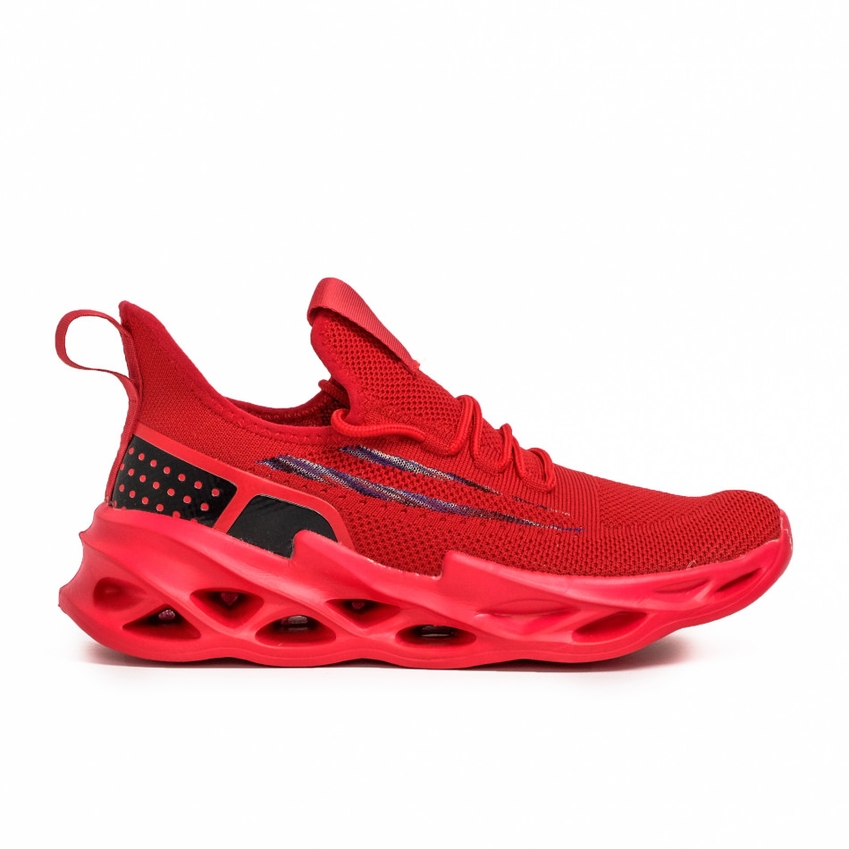 Мъжки червени маратонки Chevron it090321-3