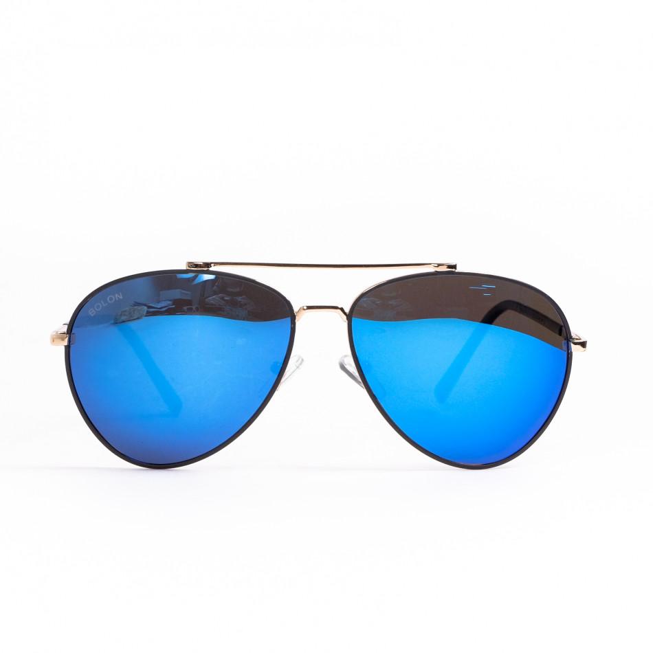 Пилотски слънчеви очила сини огледални il200521-3