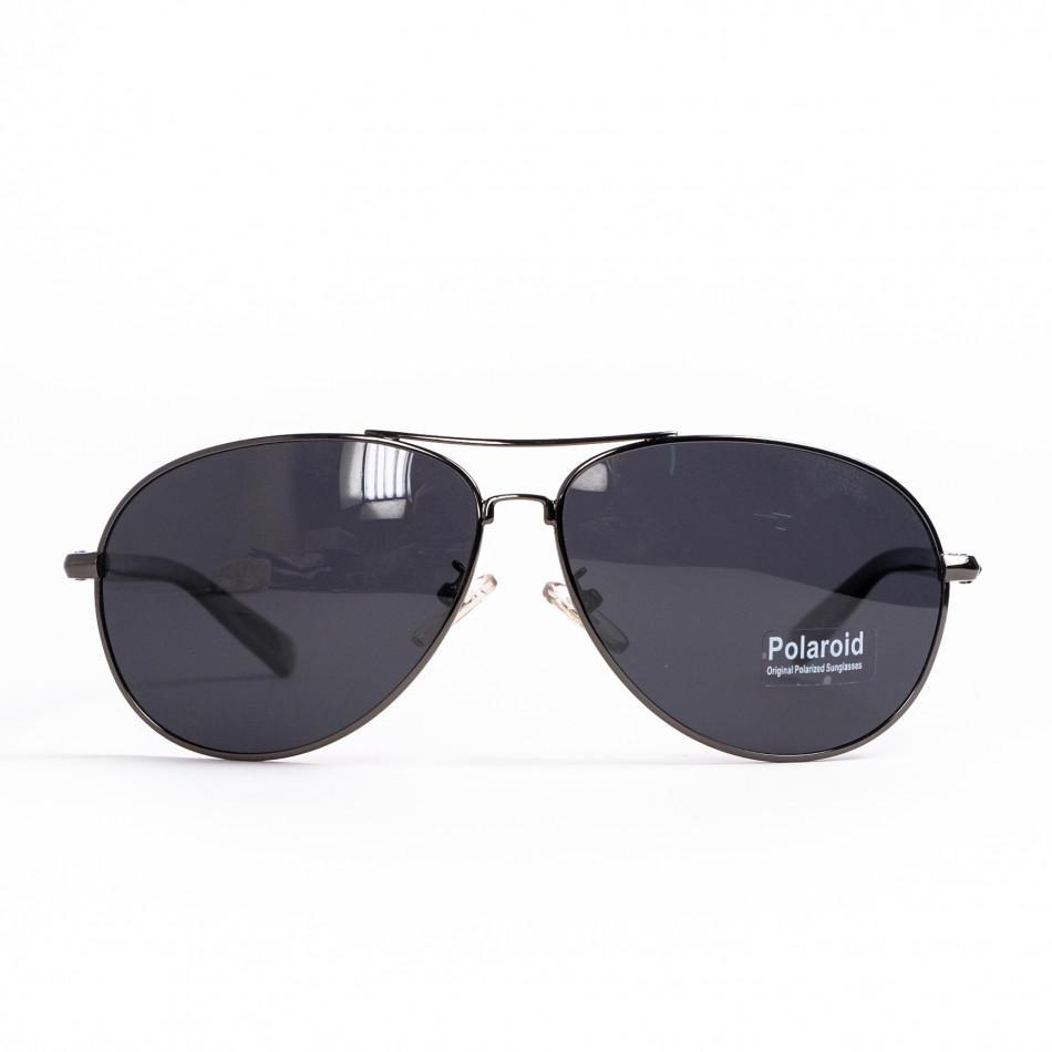 Пилотски слънчеви очила сива метална рамка il200521-1