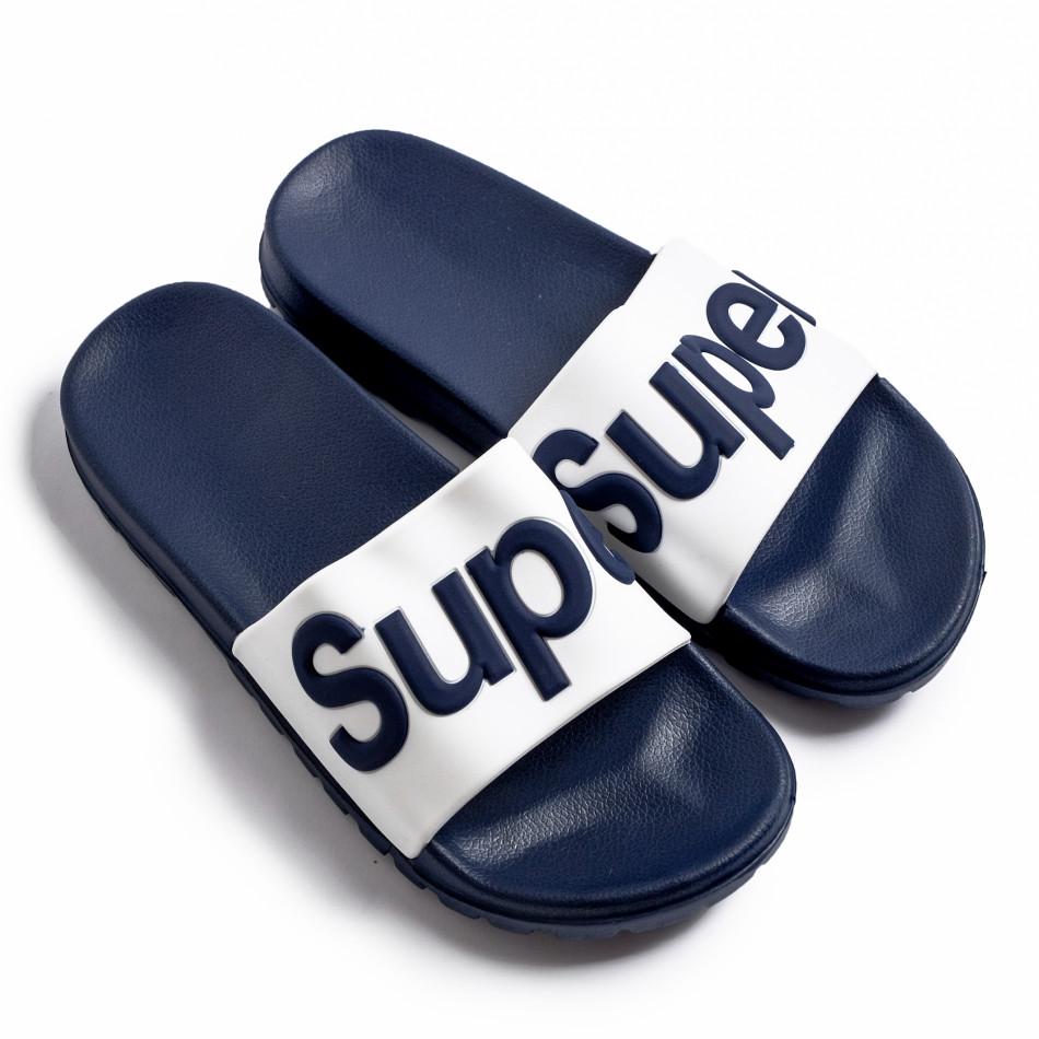 Мъжки джапанки Super тъмно синьо it260620-4