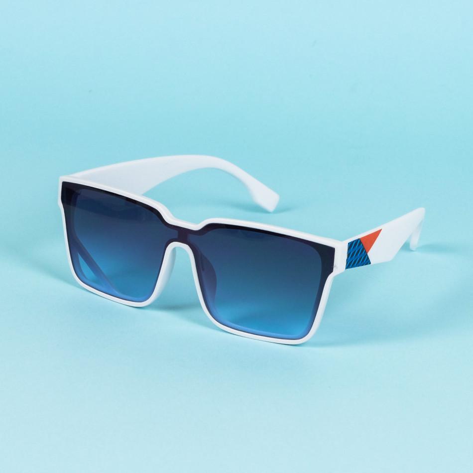 Трапецовидни слънчеви очила бяла рамка il200720-6