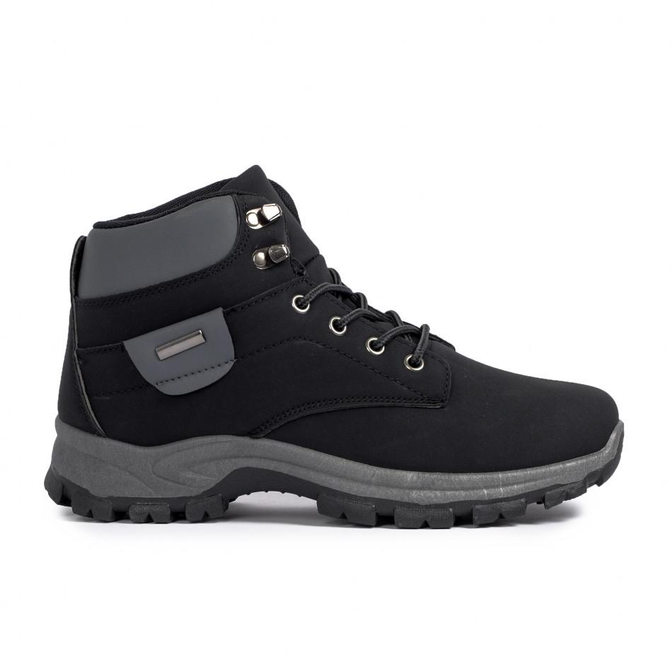 Мъжки трекинг обувки в черно и сиво it021120-1
