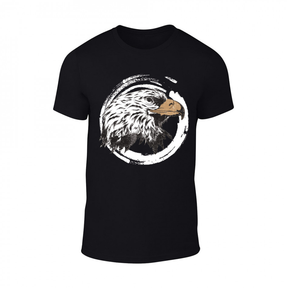 Мъжка черна тениска Eagle TMN-M-184