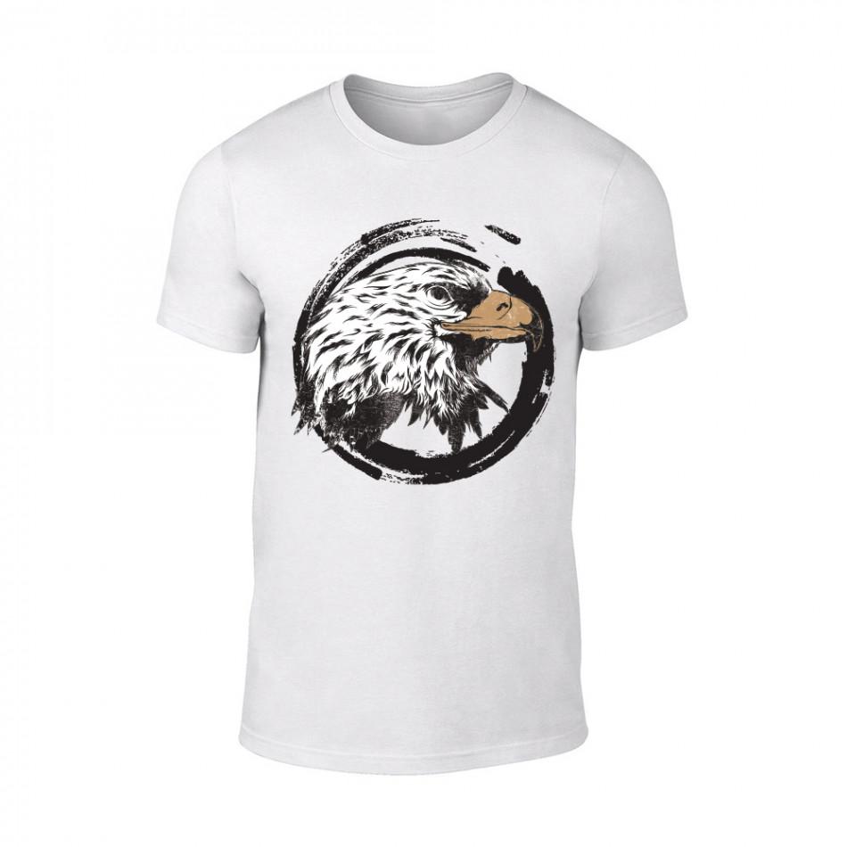 Мъжка бяла тениска Eagle TMN-M-183