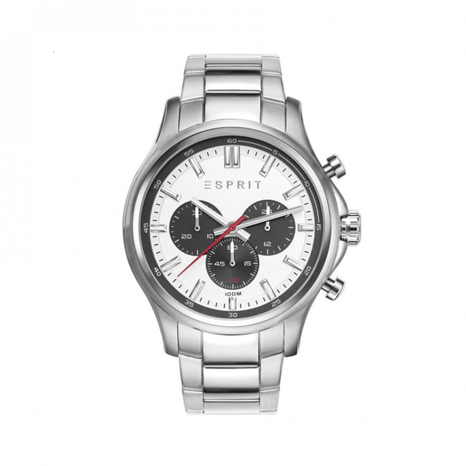 Мъжки часовник Esprit сребрист браслет с черни детайли по циферблата ES108251004