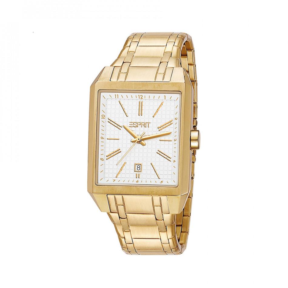 Мъжки часовник Esprit  златист браслет с бял циферблат ES104071005
