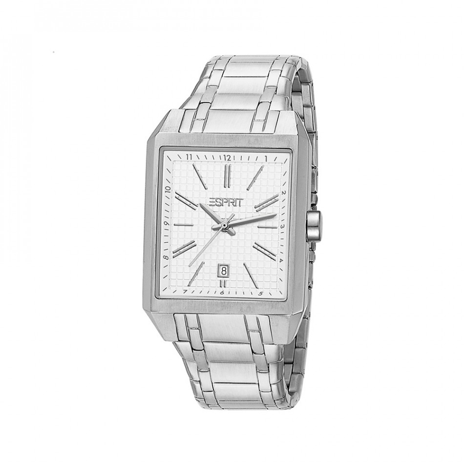 Мъжки часовник Esprit сребрист браслет с правоъгълен циферблат ES104071004