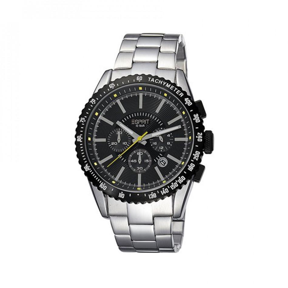 Мъжки часовник Esprit сребрист браслет с черен циферблат es104031006