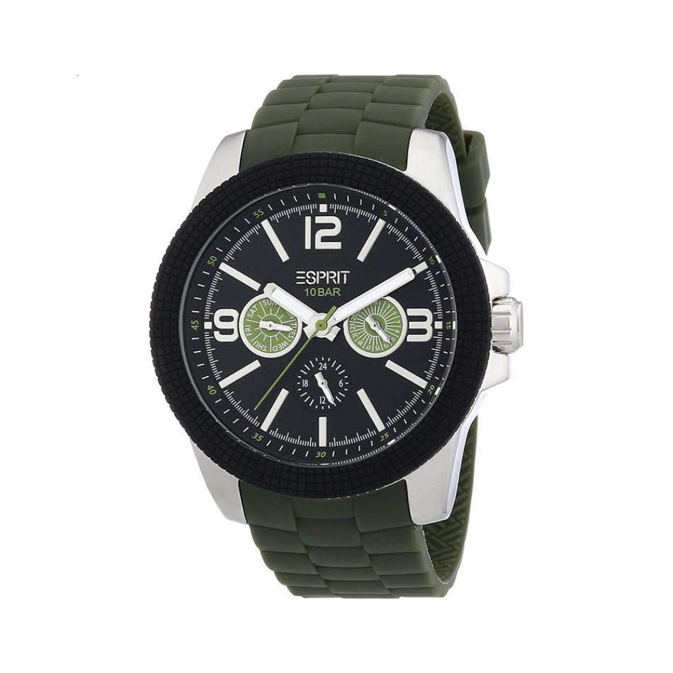Мъжки часовник Esprit със зелена каучукова каишка ES105831002