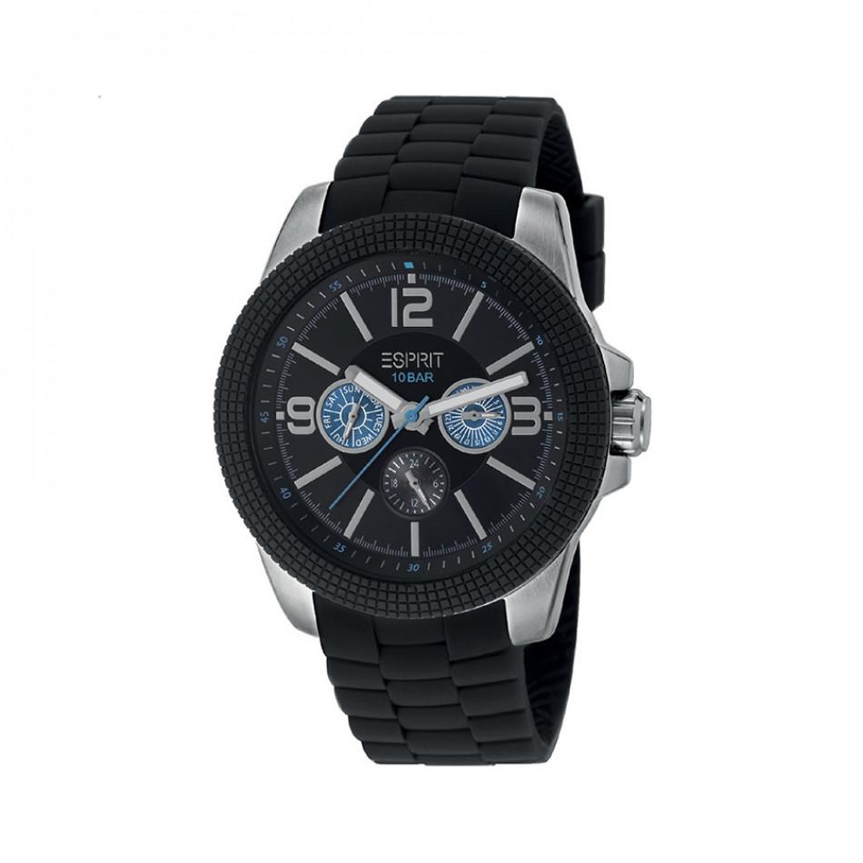 Мъжки часовник Esprit с черна каучукова каишка ES105831001