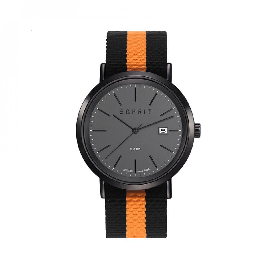 Мъжки часовник Esprit с оранжево-черна текстилна каишка ES108361001