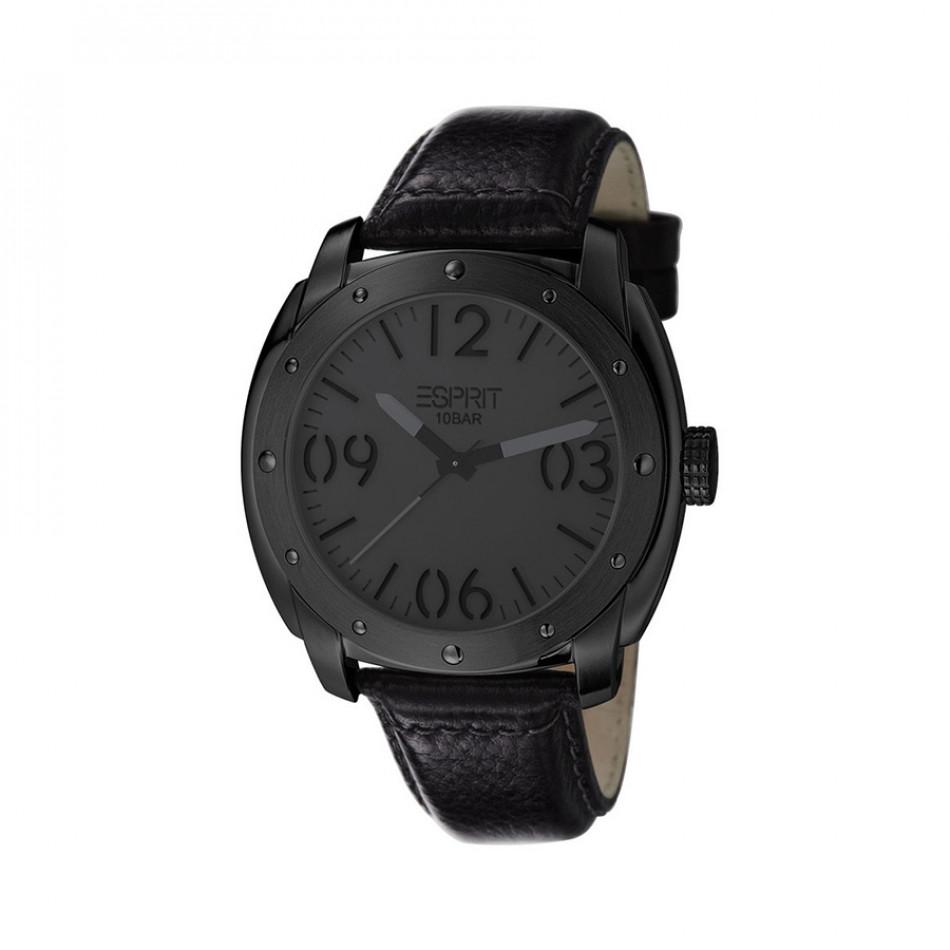 Мъжки часовник Esprit с черна каишка и черен циферблат ES106381004