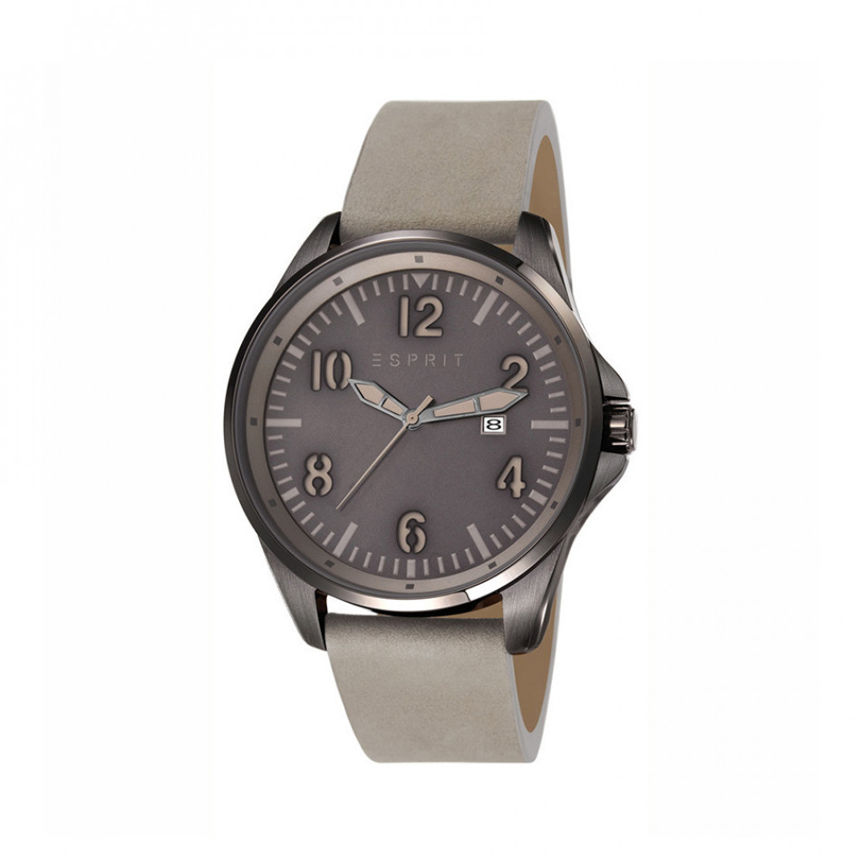 Мъжки часовник Esprit със сива каишка от естествена кожа ES107601003