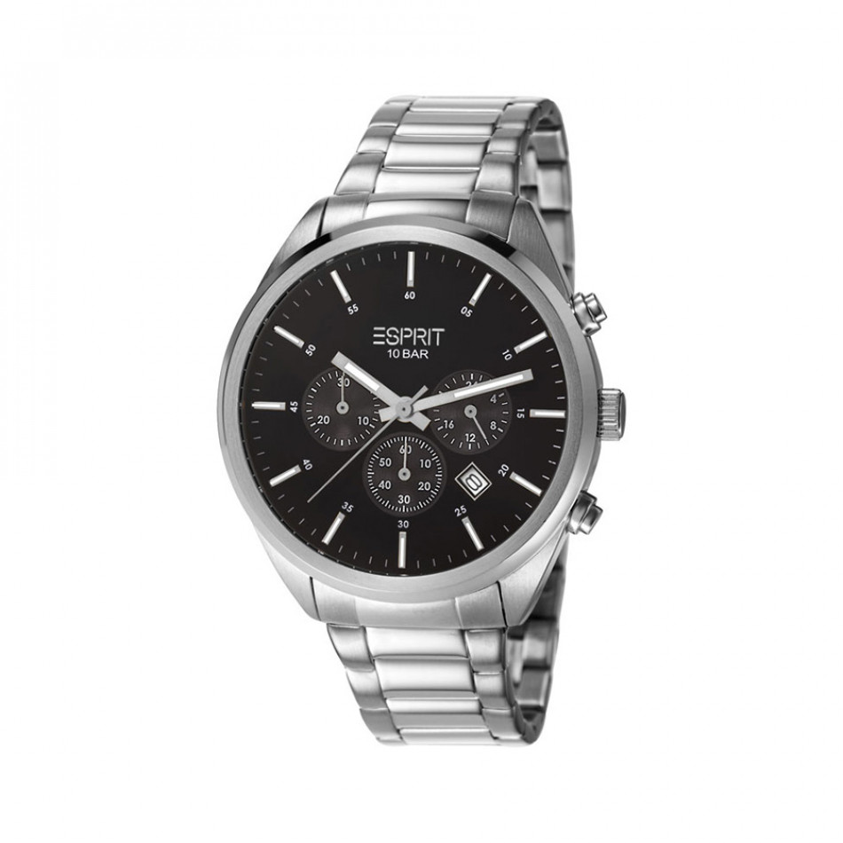 Мъжки часовник Esprit сребрист браслет с бели индекси ES106261006