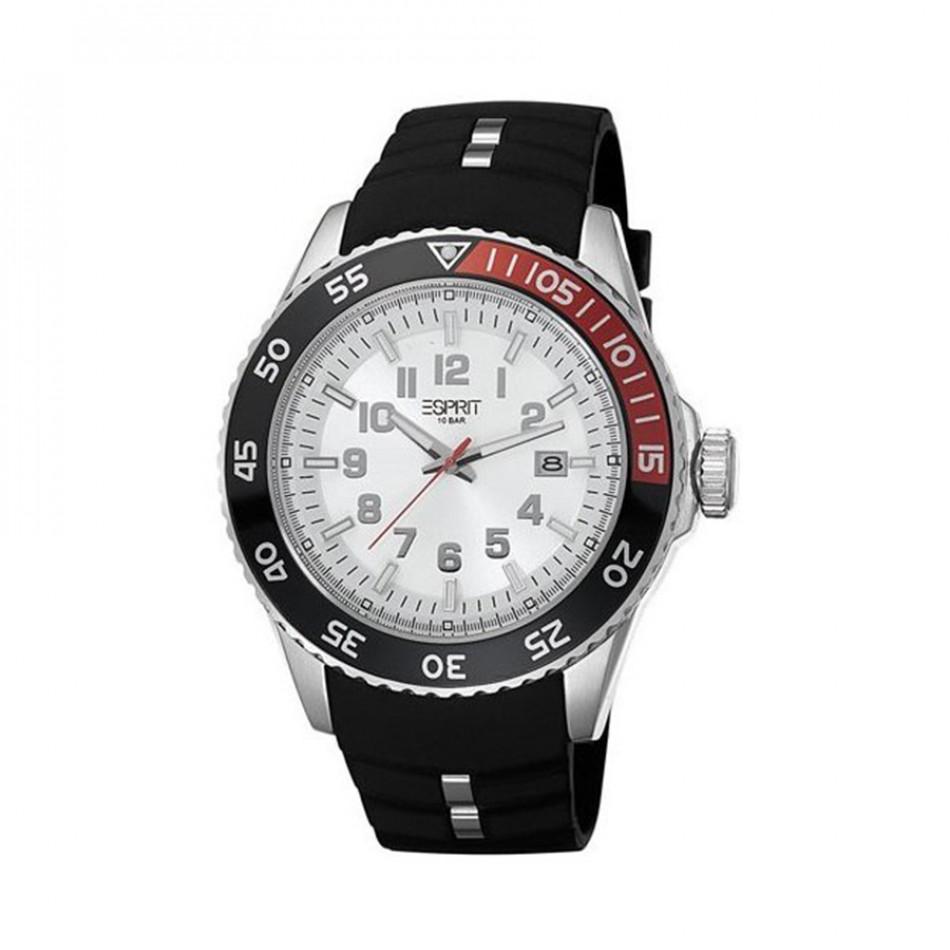 Мъжки часовник Esprit черен с двуцветен ринг на касата ES103631002