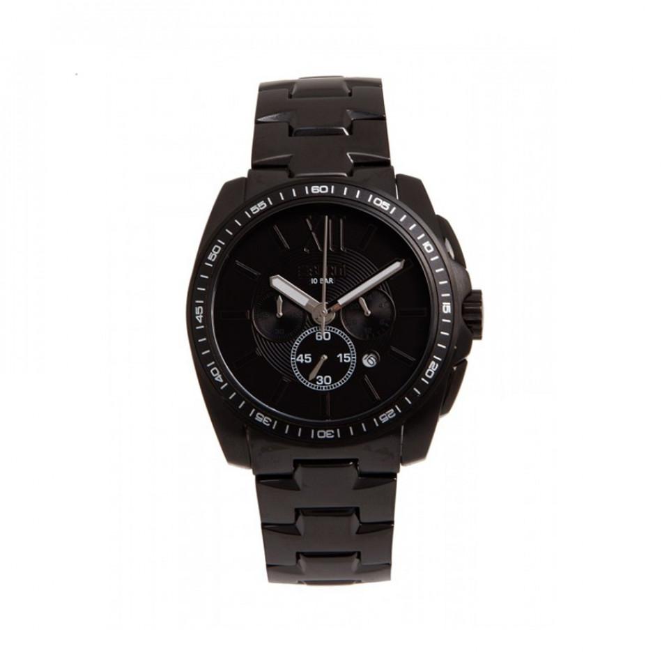 Мъжки часовник Esprit черен браслет с фосфоресциращи стрелки es103591007